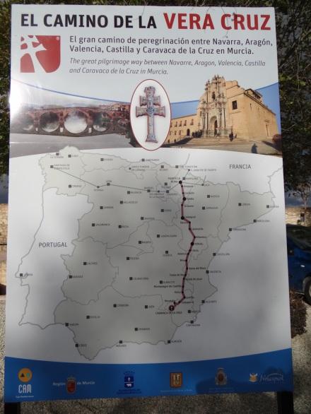 Alternativer Pilgerweg: El Camino de la Vera Cruz (natürlich das Kreuz Caravacas mit 2 Querbalken)