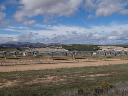 das erste von vielen Solarfeldern hier im Süden Spaniens