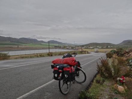 auf dem Weg zurück an die Küste - Richtung Mojacar