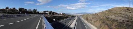 fast am Ziel: Autobahn nach Granada