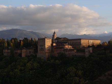 Aussicht auf die Alhambra von dort