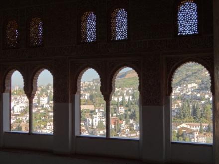 Blick aus der Alhambra auf Granada