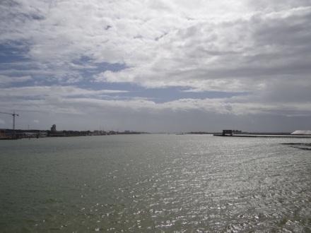 Überquerung der Lagunenlandschaft bei Huelva