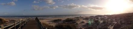 Auf meinem Strandspaziergang bei Monte Gordo …