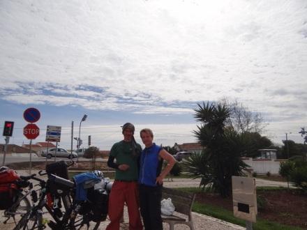 Ein Franzose, den ich heute unterwegs getroffen habe – leider war er in der Gegenrichtung unterwegs, mit Ziel Marokko.