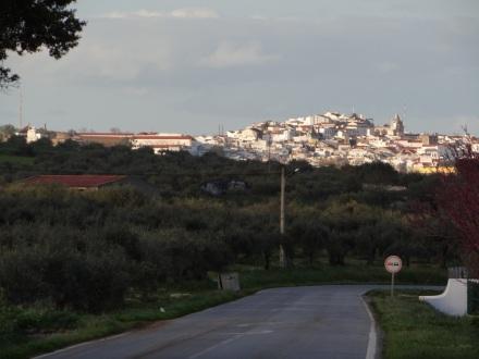 Kurz vor der Ankunft in Elvas