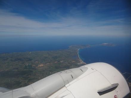 nach dem Start auf Sardinien