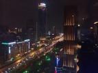 Blick aus meinem Hotelzimmer am ersten Abend in Xi'an ... oder doch New York?