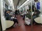 So leer ist es in der U-Bahn praktisch nie.