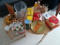 Unser Nahrungsaufgebot zum deutschen Filmnachmittag bei mir - direkt davor waren wir essen!