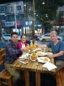Mit Ida und Robert bei einem super leckeren Abendessen - zu dem sie mich natürlich einluden (Widerrede nicht erlaubt)!