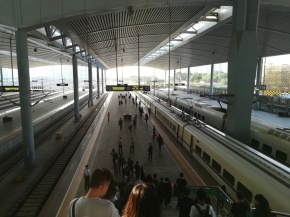 Der Bahnhof für Hochgeschwindigkeitszüge in Taiyuan.