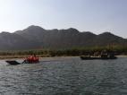 Floßfahrt am Samstagnachmittag.