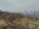 """Spooky - Blick vom """"Öko-Park"""" auf die Ausläufer von Taiyuan."""