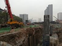 Taiyuan: überall wird gebaut. Straßen, neue Hochhäuser, Einkaufszentren ...