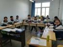 Die 12.-Klässler in Taiyuan bei der von mir durchgeführten Vorbereitung auf die Schriftliche Kommunikationsprüfung DSD II, die am 28. November stattfinden wird.
