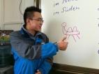 """Und ich dachte immer, ich kann nicht gut zeichnen. Der Schüler - DJ - zeichnete dieses """"Kamel"""" für mich an die Tafel ... und ich benannte es fluchs in DJamel um ;)"""
