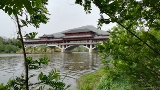 Beim Flussspaziergang in Guang Yu An.