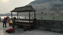 Longmen-Grotten bei Luoyang (ca. 1500 Jahre alt)