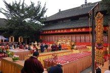 Im buddhistischen Kloster in Chengdu.