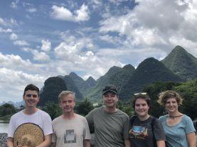 Unterwegs in der fantastischen Karstlandschaft von Guilin / Yangshuo.
